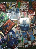 100x Rare Shiny football Cards Topps And Panini Soccer Cards man of the match
