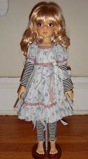 Spring Blues Dress Outfit for Kaye Wiggs MSD fits Annabella Nyssa similar dolls