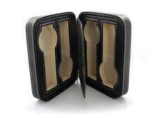 4 Watch Black Leatherette Travel Zipper Storage Case WC-1150BL