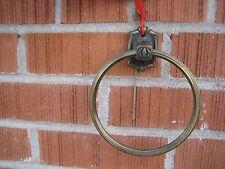 "Vintage 6"" Diameter *** AMEROCK *** Brass Towel Ring USA"