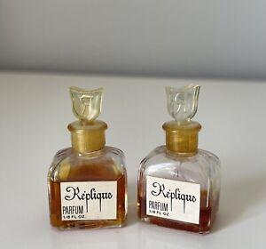 TWO Vintage Replique perfume 1/8 oz Mini Bottle Free Shipping
