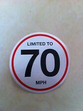 100 X 70 Mph Vehicle Speed Limited  Restriction Stickers Vinyl Van Truck Car