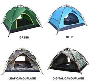 Pop Up Camping Tent 2 3 Person Family Automatic Double Layer Festive Fishing
