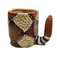 Rattlesnake Coffee Mug Snake Mug by Graham Hand Painted Ceramic Southwest 2006
