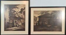 PAIRE DE PAYSAGES. LITHOGRAPHIE SUR PAPIER. SIGNATURE INCONNUE. XIX-XX SIÈCLE.
