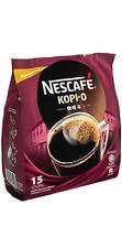 Malaysia Nescafe Kopi O 2-in-1 Instant Coffee plus sugar  17g x 15 sticks