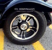 Harley Davidson Freewheeler Trike Mirror Polished SS Wheel Disc SET 2015-20 USA
