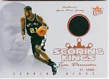 TIM DUNCAN 2004 FLEER ULTRA SCORING KINGS GAME USED JERSEY