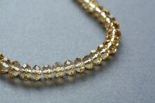 "New Swarovski Crystal Czech Glass Bead Rondelle 8mm 18"""