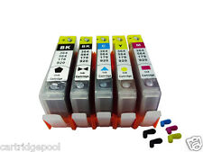 5 Refillable Ink Cartridges for HP 564 564XL PhotoSmart 7520 7515 7510