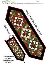Happy Holiday Table Runner & Wall Hanging Quilt Pattern~NEW~scrappy~new~#430