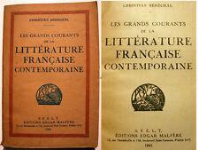 LITTERATURE FRANCAISE/COURANTS DE PENSEES/SENECHAL/1941