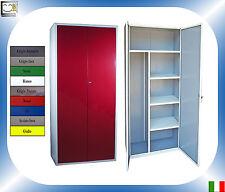 Armadio Portascope Metallo Colore Porta Gratis Scope Metallico 180 80 40 Acciaio