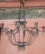 Vintage Kronleuchter Design Barock Rokoko Deckenlampe Weinkeller Kerzen Leuchter