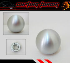 FOR MAZDA SPEED 3 5 6 PROTEGE BRUSHED ALUMINUM ROUND SHIFT KNOB BALL SILVER