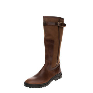 RRP €345 LE CHAMEAU Leather Knee High Boots Size 47 UK 13 US 14 Michelin Sole