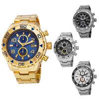 Men's August Steiner AS8130 Swiss Two Time Zone Date Quartz Steel Bracelet Watch
