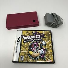 Nintendo DSi Hot Pink Handheld Console with Wario Game and Charger - Tested