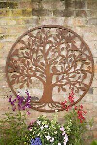 Ex Large Rustic Metal Tree Of Life Wall Art Garden Sculpture Wall Hanging 100 cm