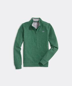 Vineyard Vines ¼-Zip Pique Sweater Jersey, NWT - Boy's M, L + XL - Red, Green