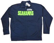 Seattle Seahawks NFL Full Zip Up Jacket w/ Fuzzy Inner Lining Men's Large L