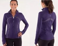 Lululemon Ladies Define Jacket Dense Purple/Ziggy Wee Caspian Size 4 EUC