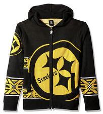 Pittsburgh Steelers Full Zip Up Sweater Hoodie - NWT Mens XL - #30677-J9-1394