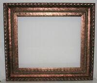 Vintage Museum Quality Antique Red Copper Color Ornate Wood Frame 20 x 24