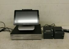 Oracle MICROS Workstation 6 POS Terminal w/Stand Display Drawer & 2x Printers