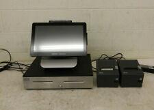 Oracle Micros Workstation 6 Pos Terminal w/Stand Display Drawer & 2x Printers