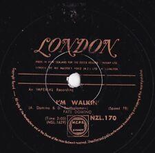 Fats Domino Rare NZ 78 I'm walkin' VG+ '57 London NZL170 R&B Blues