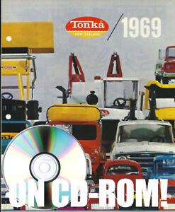 VINTAGE 1969 TONKA NEW ZEALAND TIN TOY VEHICLE CATALOG ON CD-ROM! + 2 BONUS LOTS