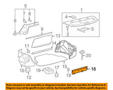 TOYOTA OEM 03-08 Corolla Interior-Rear-Rear Panel Trim 5838702050B0