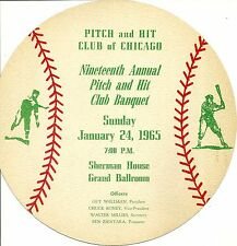 1965 Pitch and Hit Club of Chicago Banquet Menu & Program ERNIE BANKS RON SANTO