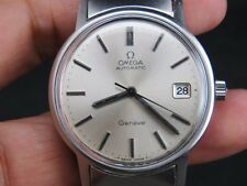 VINTAGE OMEGA GENEVE 1012 23J STAINLESS STEEL SS SWISS MADE AUTOMATIC MENS WATCH