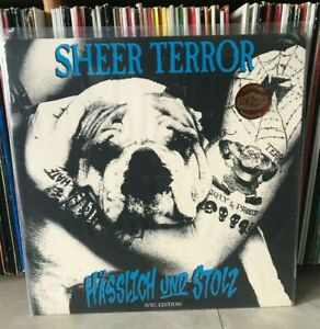 Sheer Terror Ugly and Proud Lp Purple Vinyl NYHC Antidote Agnostic Front Kraut