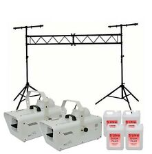 QTX SW2 Snow Machine inc 20L Fluid 1200w + Remote & Lighting Truss Stand