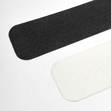 10 cm rutschfeste scharfe Anti Rutsch Streifen grau 60iger Korn runde Ecken