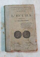 EURIPIDE-L'ECUBA COMMENTATA DAL PROF. BENIAMINO STUMPO- 1917-L3401