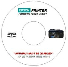 EPSON PX830FWD WASTE INK ERROR COUNTER PAD RESET REPAIR DVD FOR WINDOWS 7 8 10