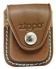 Zippo lighter pouch-clip LPCB genuine brown leather NEW