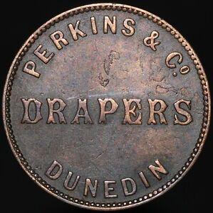 ND (1862-66) | New Zealand Perkins & Co. Dunedin Half-Penny Token | KM Coins