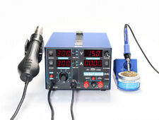 220V 853D USB 2A SMD 3 in 1 Hot air Iron Gun Rework Soldering Station Welder