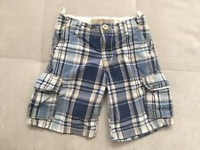 Gap Boys Checked Shorts Size 5 Toddler Cotton White Blue
