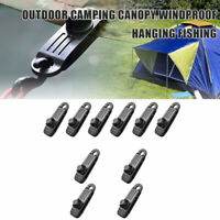 5/10pcs Tent Tarpaulin Clips Clamps Buckle Camping Tool Heavy Duty Reusable/