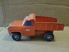 TONKA ORANGE Manual Dodge DUMP TRUCK Vintage Pressed Steel Toy