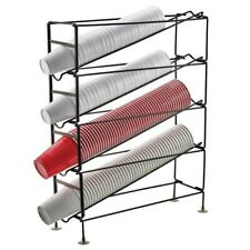 Stop the spread of germs and viruses. 4-Tier Cup Dispensing Rack