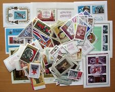 RUSSIA 1973  STAMP YEAR SET-102 STAMPS &  10 MINI SHEETS - ALL MINT UNHINGED