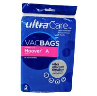 3 Allergen Filtration Vacuum Bags For Hoover A Upright Vacuums, Vac Bags
