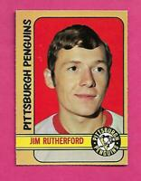 1972-73 OPC  #  15 PENGUINS JIM RUTHERFORD GOALIE ROOKIE EX-MT CARD (INV# D1178)